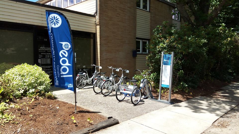 Pedal Corvallis Ribbon Cutting Ceremony - Bike Station